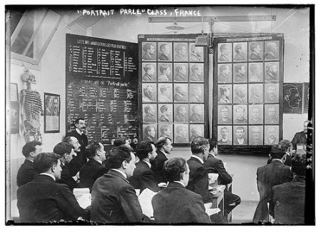 """Portrait Parle"" class, France (Bertillon method, ca. 1910-1915)"