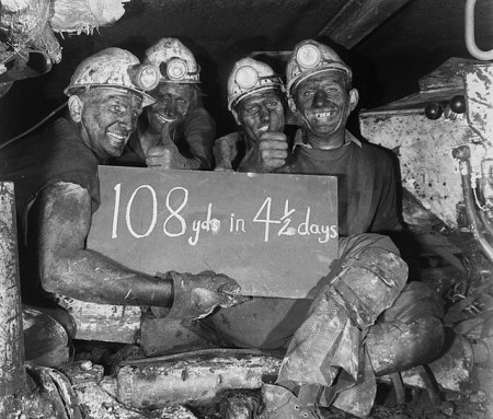 108 yards in four and a half days -- Welsh miners c. 1960