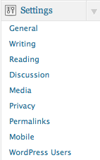Settings WordPress Users