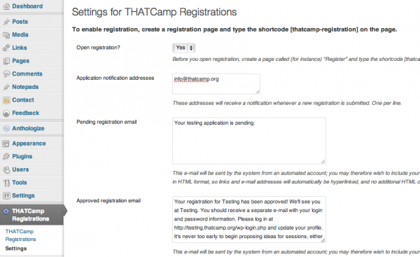 thatcamp-registrations-settings